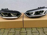 Original Bi xenon headlights VW Golf MK 7 sportsvan 2012 - 2019 RHD UK version