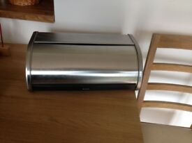 Barbantia stainless steel bread bin