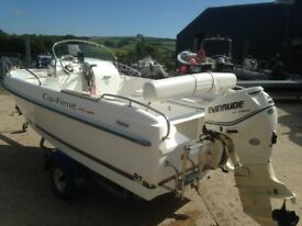 2009 Cap Ferret 452 Open Swing Sports/Fisher with Evinrude 40HP E-Tec Outboard Engine Trailer.