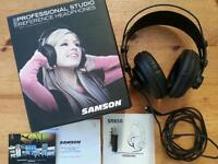 SAMSON SR850 HEADPHONES AS NEW PROFESSIONAL STUDIO REFERENCE USED ONCE