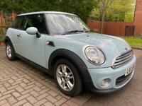LATE 13 MINI ONE 1.6 6 SPD🔥LEATHER🔥STUNNING CAR!🔥ICE BLUE!✅ONLY 65K!&FSH! ford,audi,citreon,bmw