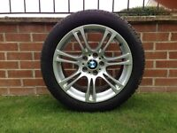 4 X BMW MSPORT 18'' WHEELS with DUNLOP SP WINTER SPORT TYRES 245/45R/18