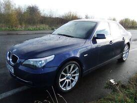 BMW 525i SE E60 2005 Topaz Blue full MOT M5 Alloys 19inch reps new parts 12 months mot no addvisorys