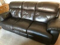 3 piece leather suite for sale
