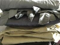 Real silk curtains one gold one silver both from next and one faux home decor bundle