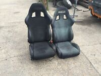 Sparco reclining bucket seats