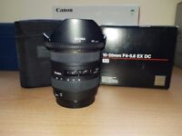 Sigma 10-20mm f/4-5.6 EX DC HSM (Canon fit) - Excellent condition