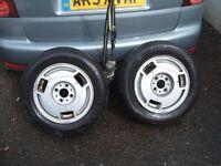 Pair of alloy wheels for FREEDOM CARAVAN