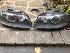 Audi A3 8p bi- xenon headlights pair