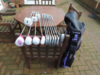 NEW Wilson Pink Golf Club Set with bag (Breast Cancer Awareness) right hand set