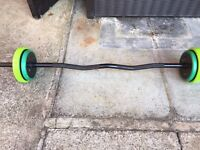 Mens Health EZY Curl Bar - 18kg - RELISTED DUE TO TIME-WASTER