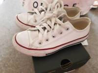 Size 11 white leather Converse