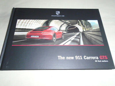 Porsche 911 Carrera GTS brochure Oct 2014 hardbacked