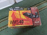 AKG Wireless UHF WMS 40 Wireless Microphone Pocket Transmitter Set