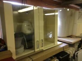 2 separate kitchen wall units