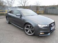 2012 /62 AUDI A5 2.0 TDI COUPE S LINE BLACK EDITION LOW MILEAGE F/S/HISTORY MINT CONDITION