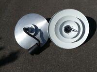 John Lewis pull down adjustable industrial style pair of lights