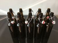 Amber Swing Top bottles beer