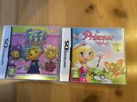Nintendo DS games FIFI and the Flowertots and Princess Melody