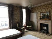 Luxurious and very spacious king-size bedroom in central Edinburgh - St Patrick Square
