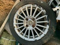 Fox Racing Alloys 15 inch in good condition with tyres size 195/50 R15 with a good tread on each