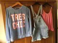 Size 10 bundle with short dungarees