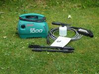 Bosch AHR 1000 pressure washer, 100 bar, includes lance, detergent container and full instuctions.