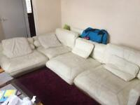 Free DFS California real leather corner sofa