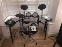 Roland TD-12K V-Drum kit with Pearl HH Stand and Kick and Gibraltar Throne