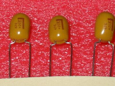 47uf 10 20v Radial Tantalum Caps Kemet T354k476k020 - 10 Pc Lots