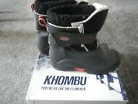 SOLD SOLD SOLD - KHOMBU Waterproof Winter Snow Boots Apres Ski UK 5 Very Good Condition