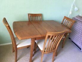 Dining Room Table (extendable to seat 6) with 4 chairs