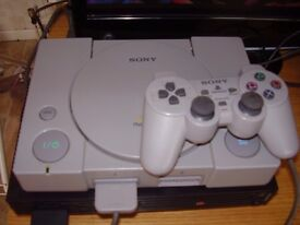 PLAYSTATION WITH GAME