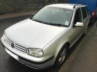 Volkswagen Golf estate 1.9 TDI - 2002 - 11 months MOT - Low mileage with FSH