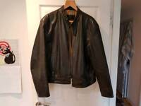 Leather biker jacket xl