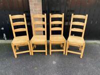 Set of 4 beech chairs