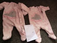 Girls baby clothes up to 1 month newborn