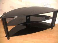 Black Glass TV Stand *Bargain*
