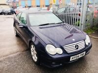 MERCEDES C200 1.8K SE PETROL AUTOMATIC COUPE 3 DOORS LEATHER PANORAMIC LOW MILEAGE 62000 MILES