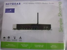 NETGEAR N150 Wireless ADSL2+ Modem Router DGN1000 - New and Sealed