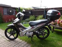 HONDA WAVE 110 MOTOR SCOOTER , Excellent Condition . One owner . Full MOT Top Box Clips on