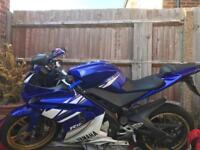 Yamaha r125 blue/white