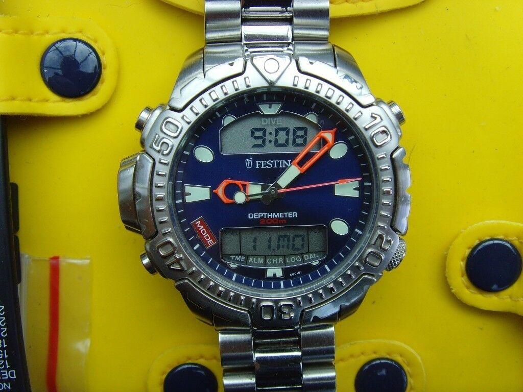 Festina DepthMeter Scuba Dive watch