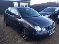 VW POLO 1.2 S 2005 3DR IDEAL FIRST CAR CHEAP INSURANCE FULL SERVICE HISTORY