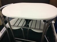 2 place space saver dining table and chairs