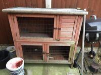 Guinea pig/rabbit hutch in need of refurbishment