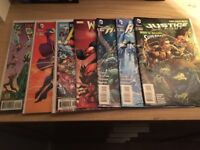 Assortment of Marvel and DC comics
