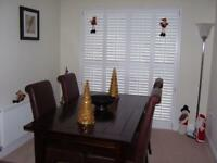 Dining Table & 4 Leather High Back Chairs