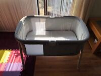 CHICCO TRAVEL COT LULLAGO SILVER USED