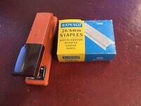 REXEL STAPLER AND BOX OF STAPLES - £5 ONO